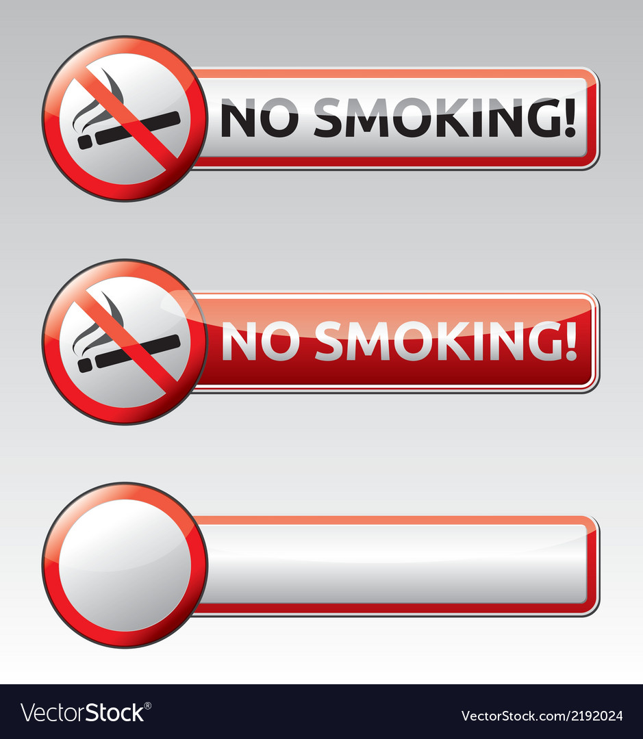 No smoking prohibition sign banner collection vector | Price: 1 Credit (USD $1)