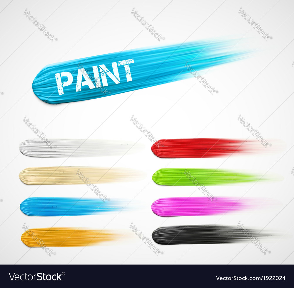 Paint strokes vector | Price: 1 Credit (USD $1)