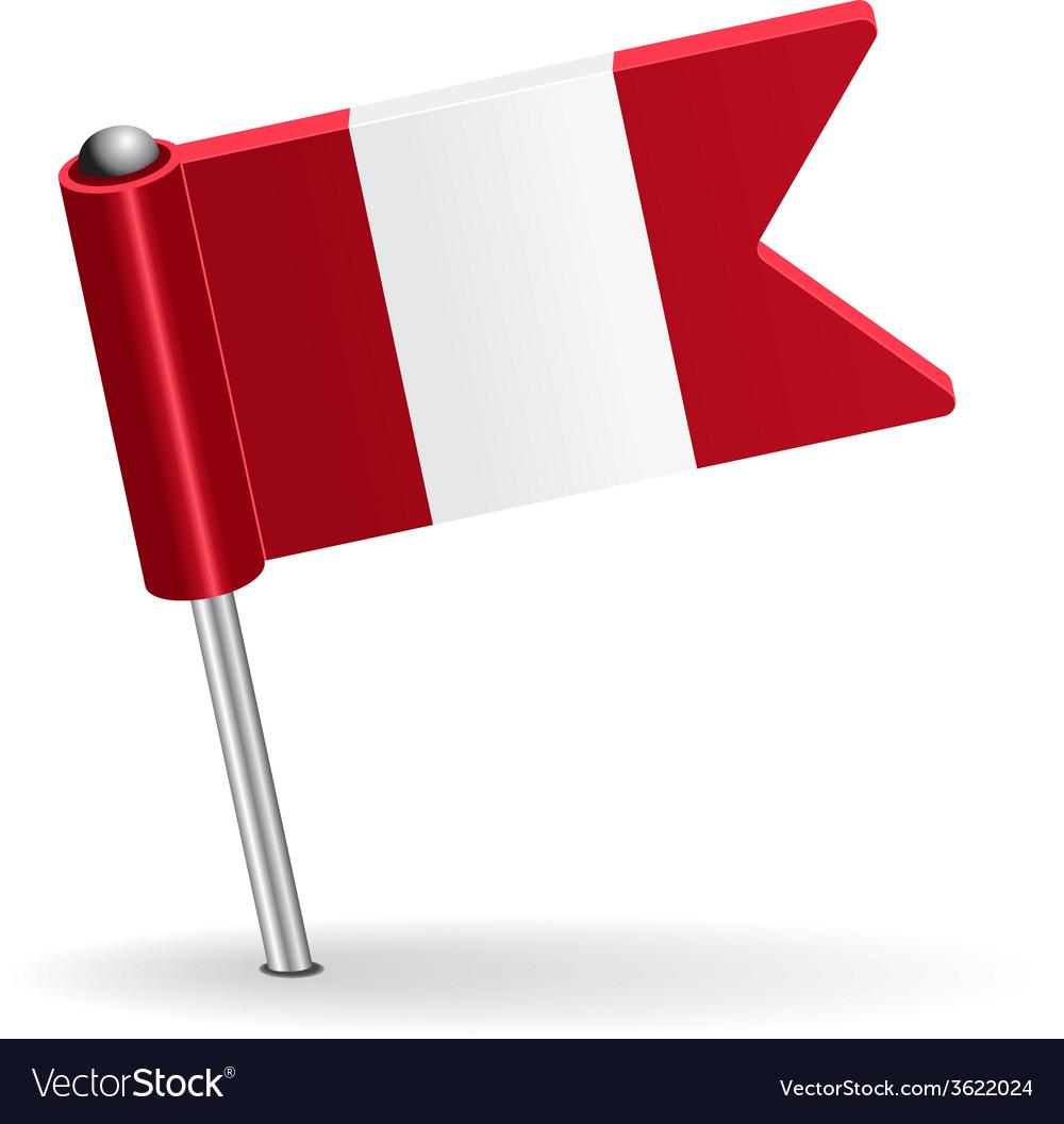 Peru pin icon flag vector | Price: 1 Credit (USD $1)