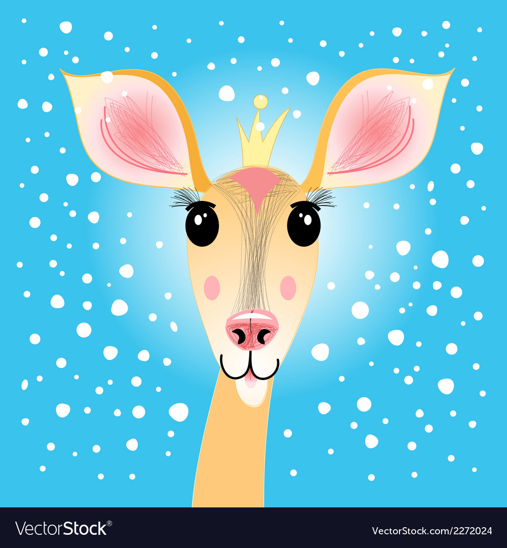 Portrait of a deer vector | Price: 1 Credit (USD $1)