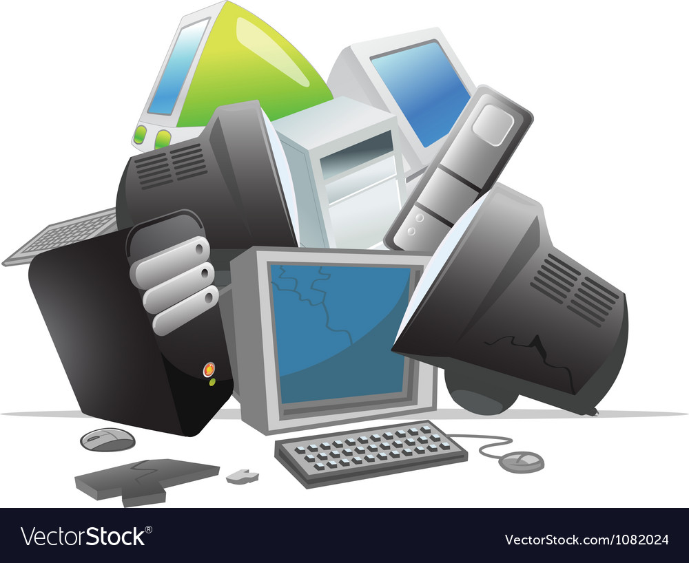 Recycling computers vector | Price: 1 Credit (USD $1)