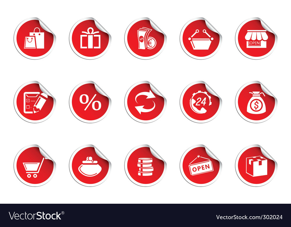 Shopping icons  sticky series vector | Price: 1 Credit (USD $1)