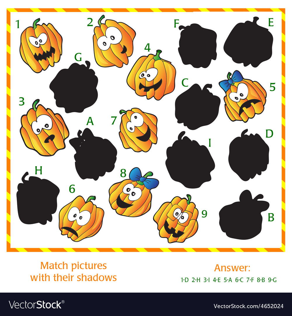 Visual puzzle - match the pictures to their vector | Price: 1 Credit (USD $1)