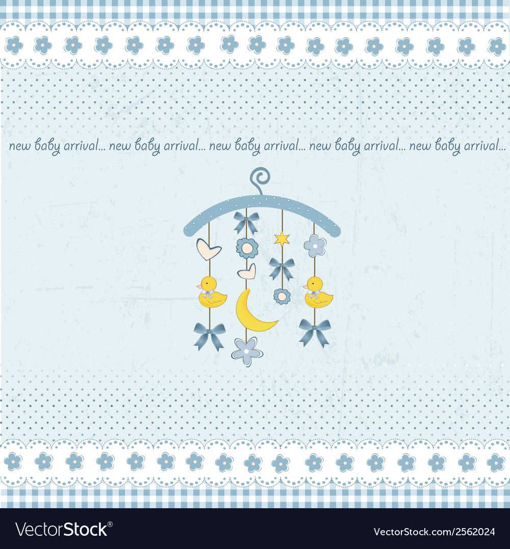 Welcome baby announcement card vector | Price: 1 Credit (USD $1)