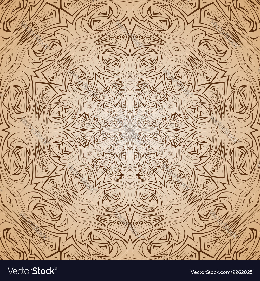 Abstract pattern in beige and brown vector | Price: 1 Credit (USD $1)