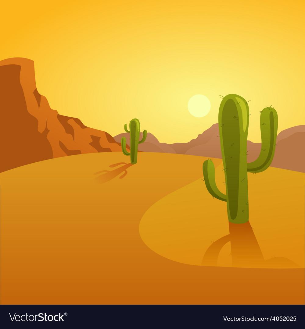 Cartoon of a desert background vector | Price: 1 Credit (USD $1)