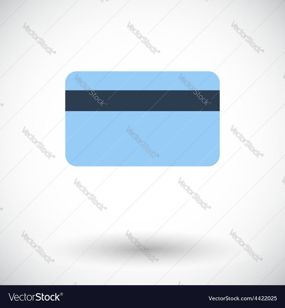 Credit card single icon vector | Price: 1 Credit (USD $1)