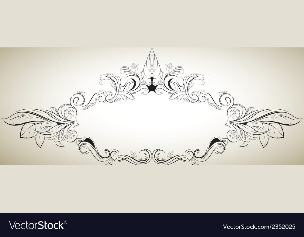 Floral frame in a classical style vector | Price: 1 Credit (USD $1)