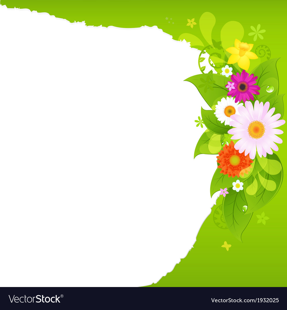 Fragmentary paper with flowers vector | Price: 1 Credit (USD $1)