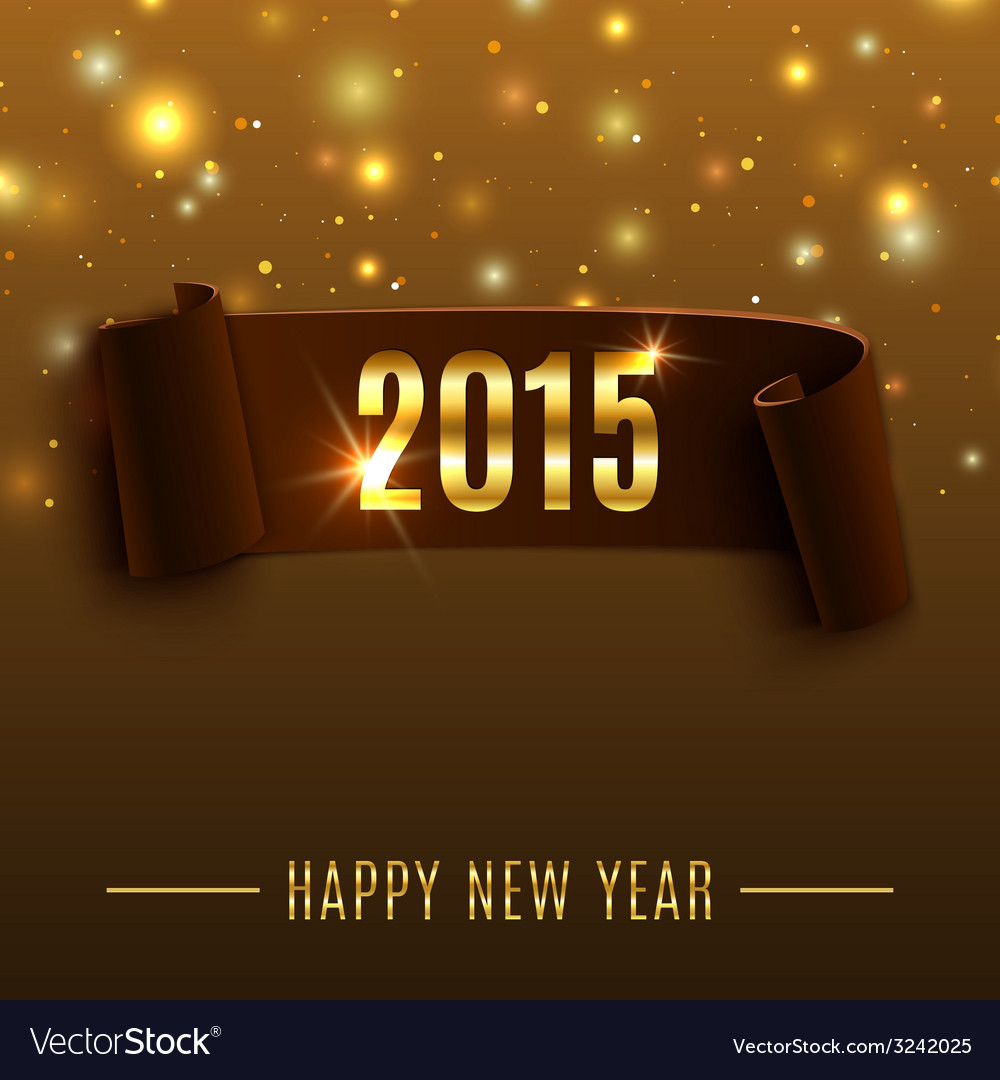 Happy new year 2015 celebration background with vector | Price: 1 Credit (USD $1)