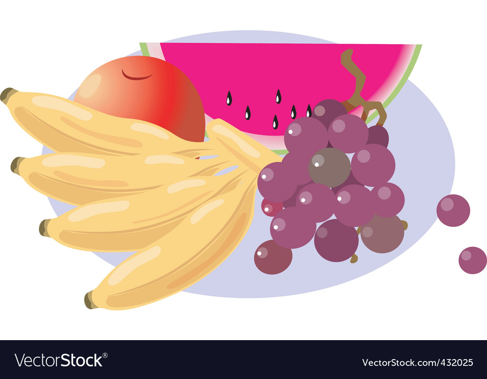 Healthy food of sweet fruit vector | Price: 1 Credit (USD $1)