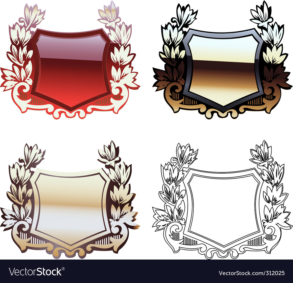 Heraldry shields vector | Price: 1 Credit (USD $1)