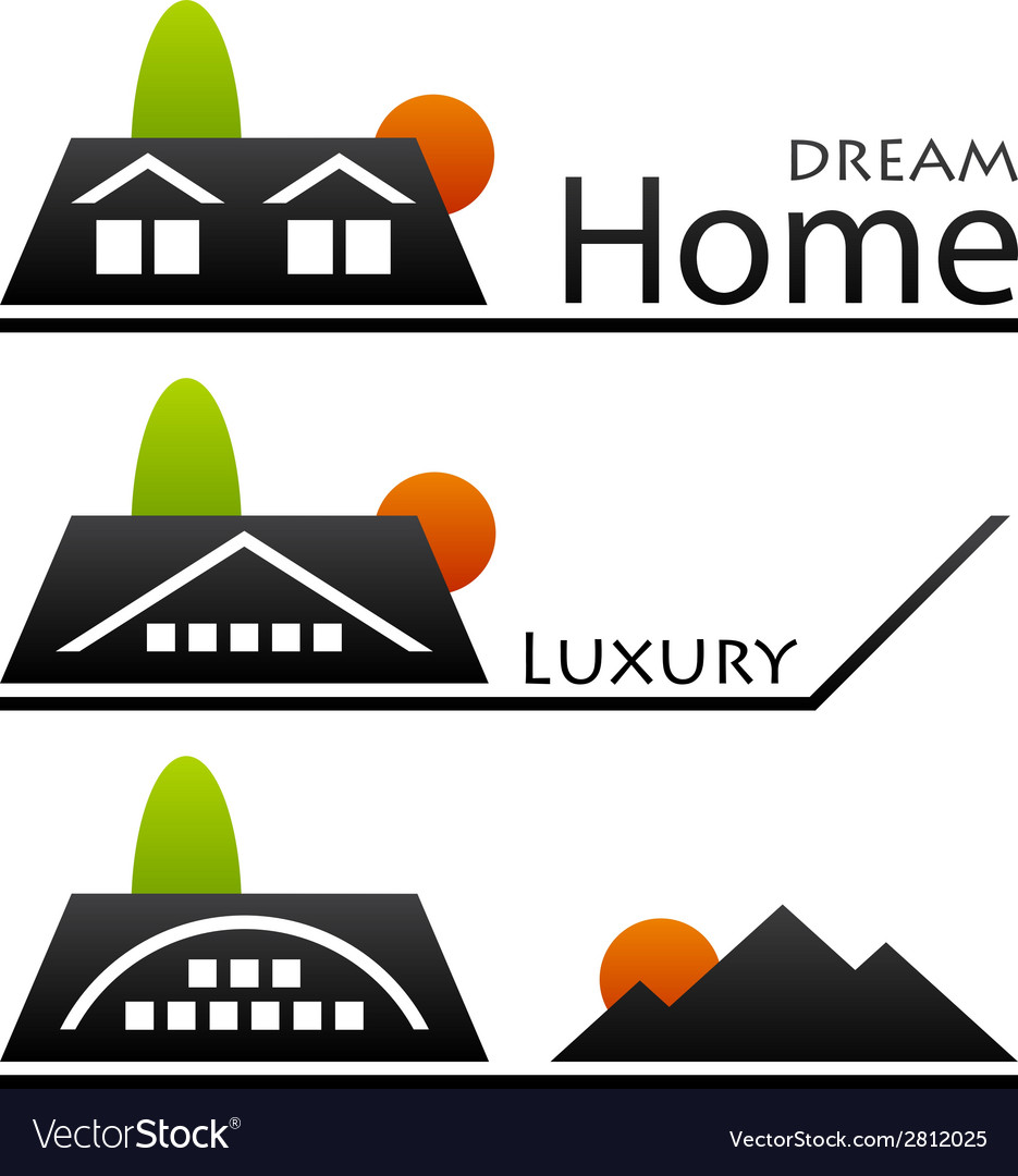 House roof pictograms vector | Price: 1 Credit (USD $1)