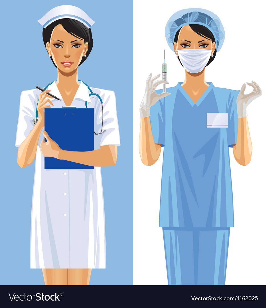 Nurses vector | Price: 5 Credit (USD $5)