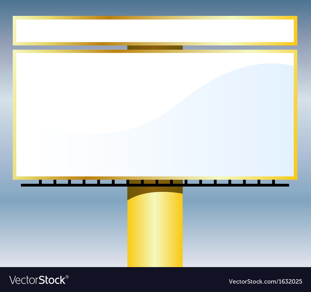 Outdoor billboard vector | Price: 1 Credit (USD $1)