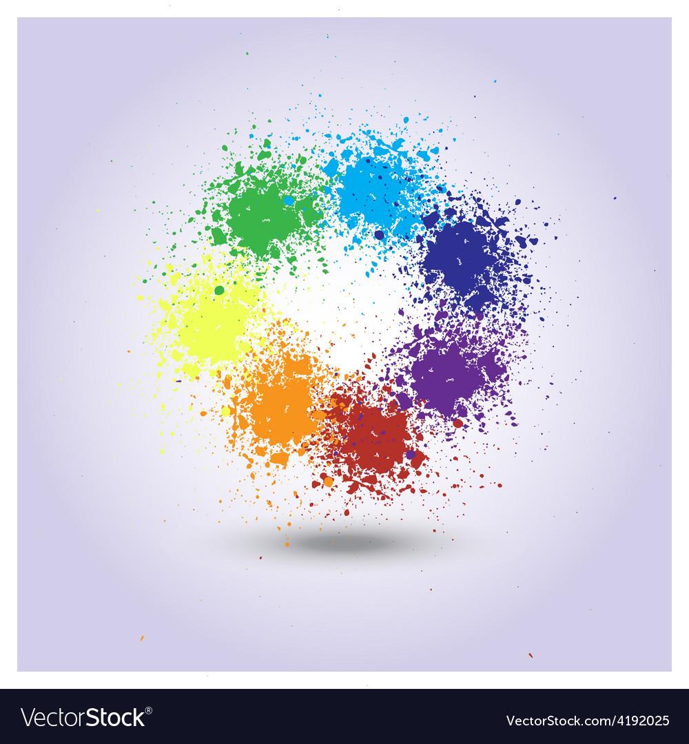 Rainbow of paint spray vector | Price: 1 Credit (USD $1)