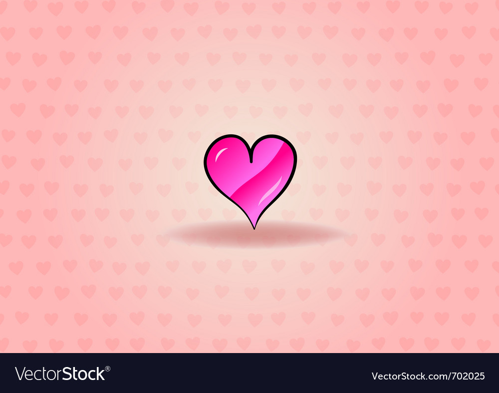 Sweet heart on the background vector | Price: 1 Credit (USD $1)