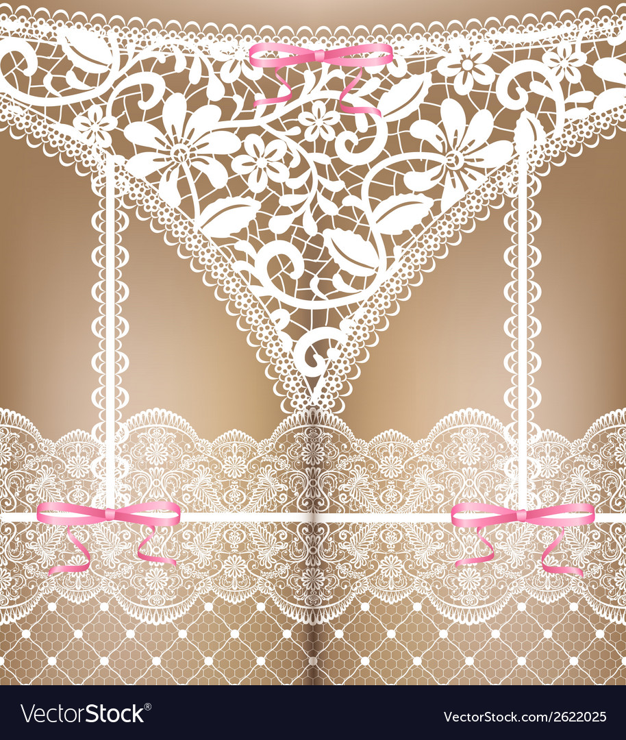 White lace lingerie vector | Price: 1 Credit (USD $1)