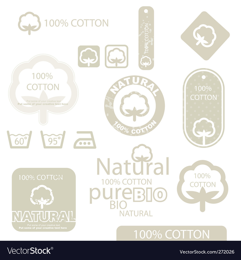 Cotton icons vector | Price: 1 Credit (USD $1)