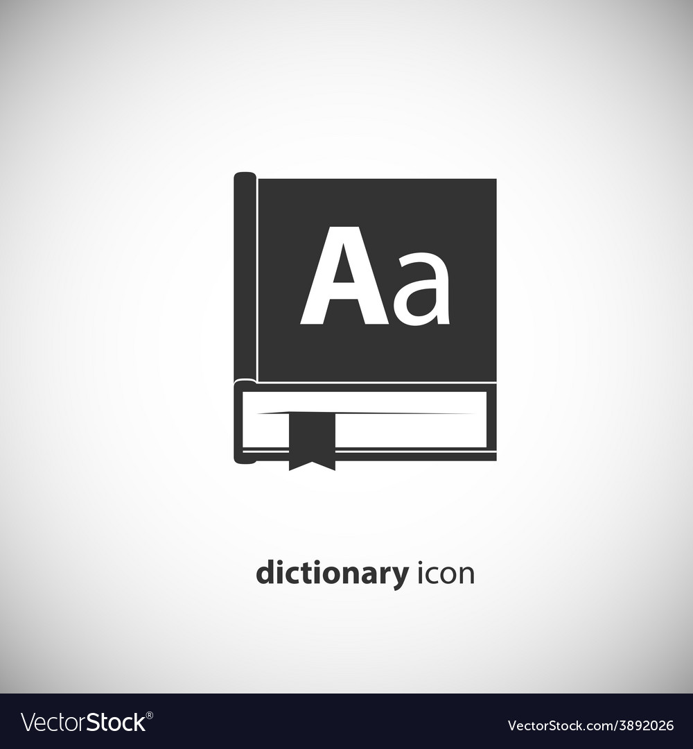 Dictionary book icon vector | Price: 1 Credit (USD $1)