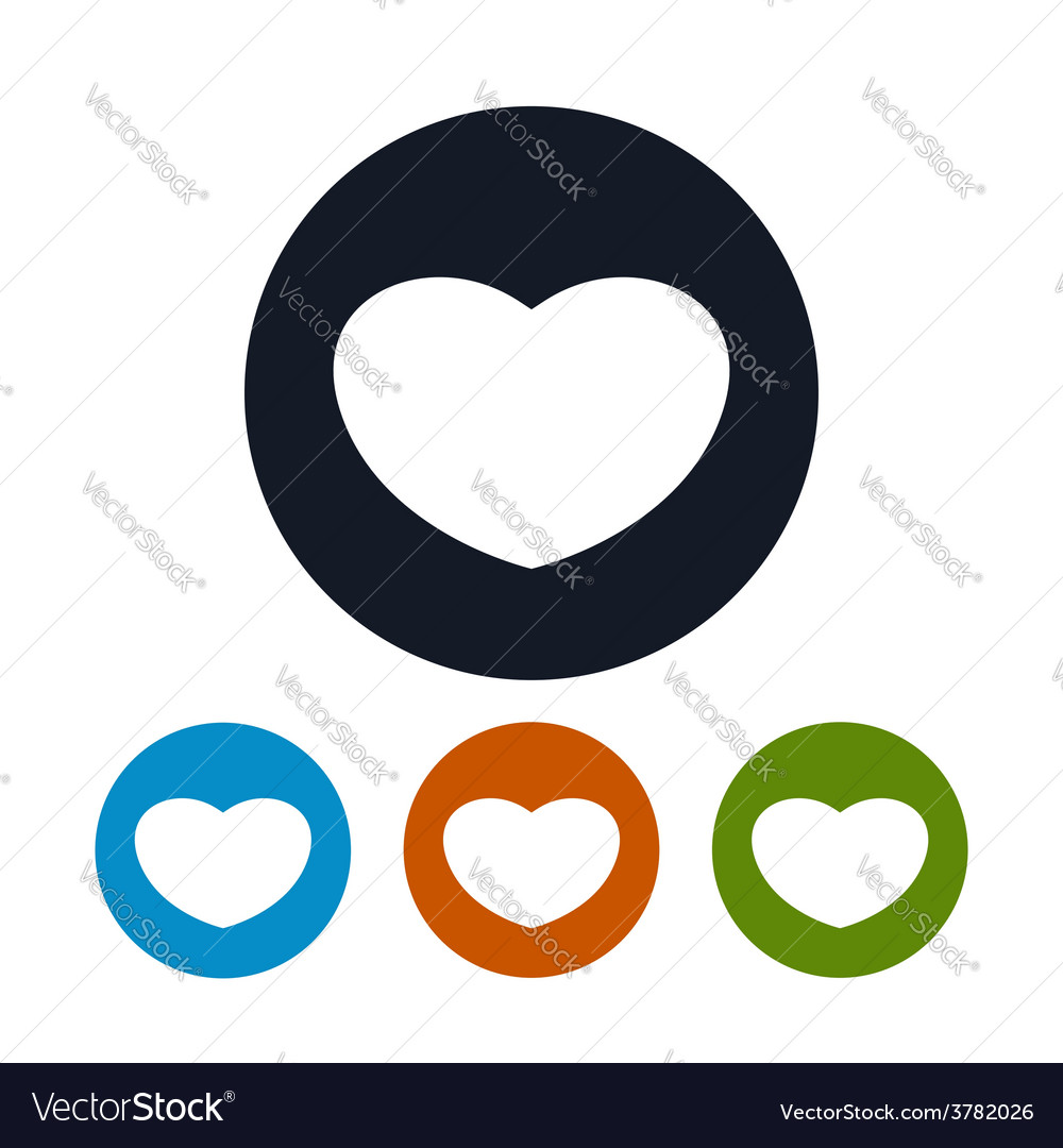 Icon heart vector | Price: 1 Credit (USD $1)