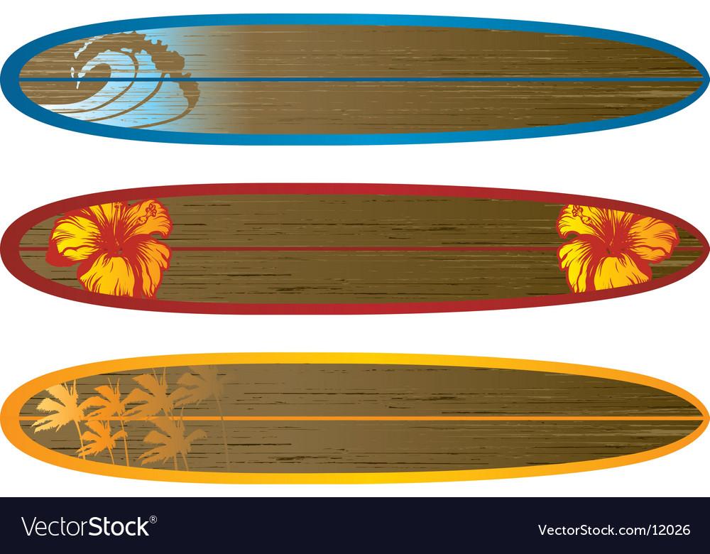 Long board set vector | Price: 1 Credit (USD $1)