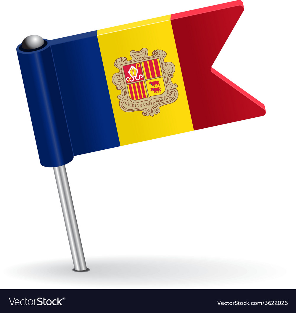 Moldova pin icon flag vector | Price: 1 Credit (USD $1)