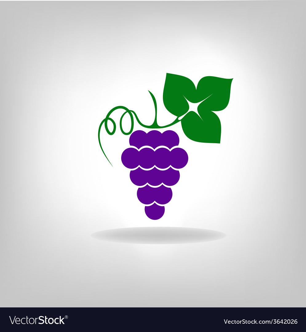 Silhouette of grapes vector | Price: 1 Credit (USD $1)