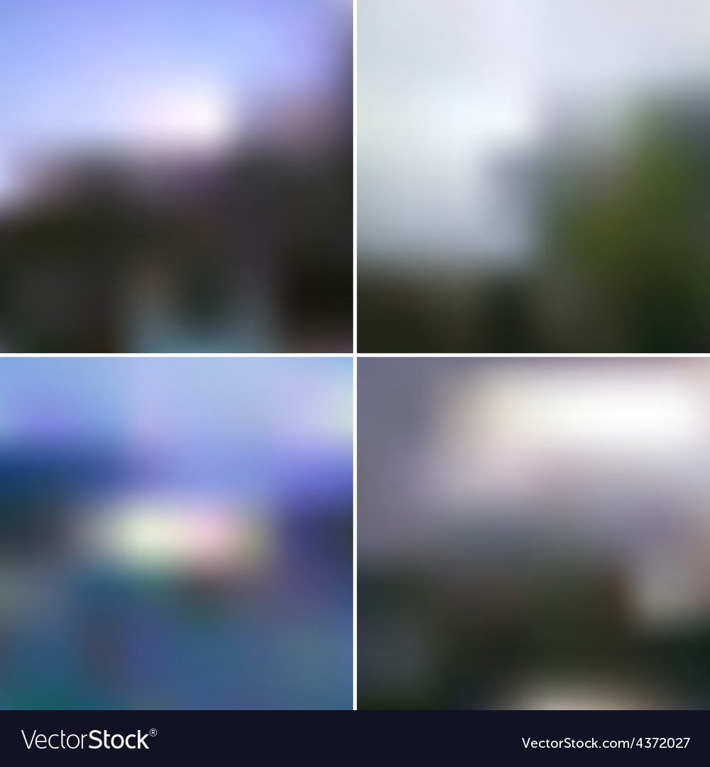 Blur landscape backgrounds editable vector | Price: 1 Credit (USD $1)