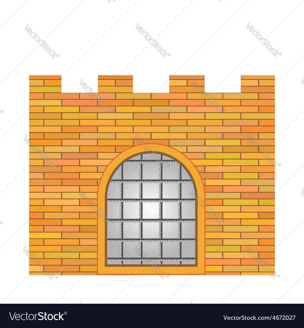 Brick castle vector | Price: 1 Credit (USD $1)