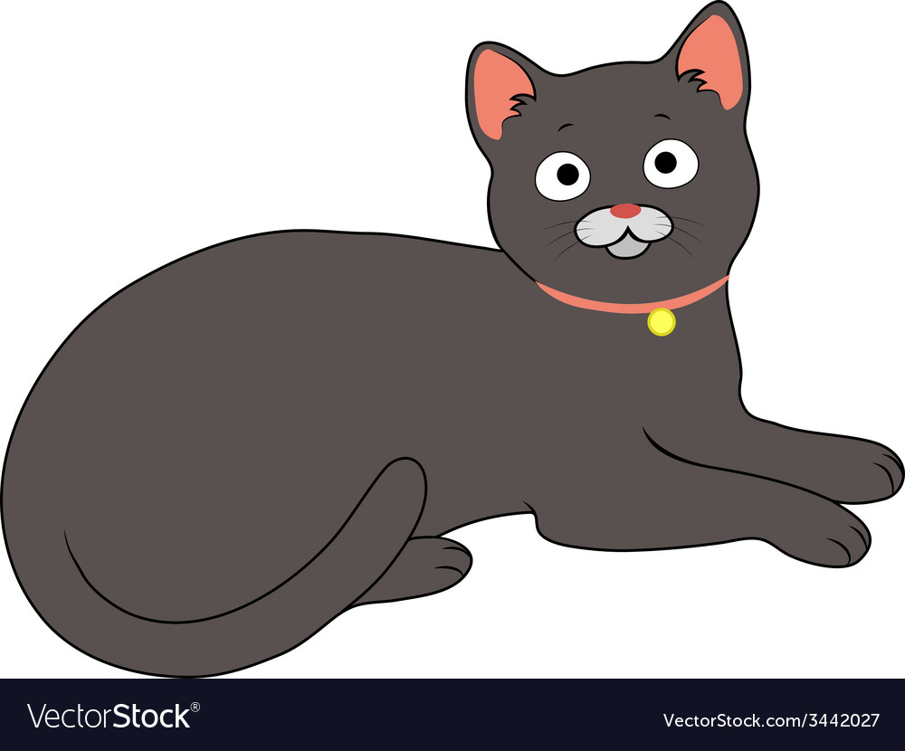Charming cat vector | Price: 1 Credit (USD $1)