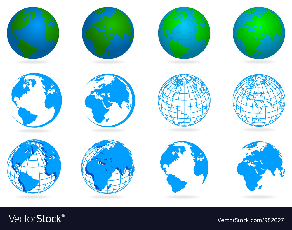 Collection of planets vector | Price: 1 Credit (USD $1)