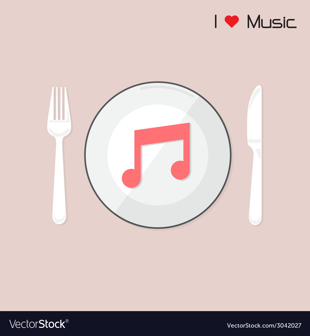 Creative music note sign on disk vector | Price: 1 Credit (USD $1)