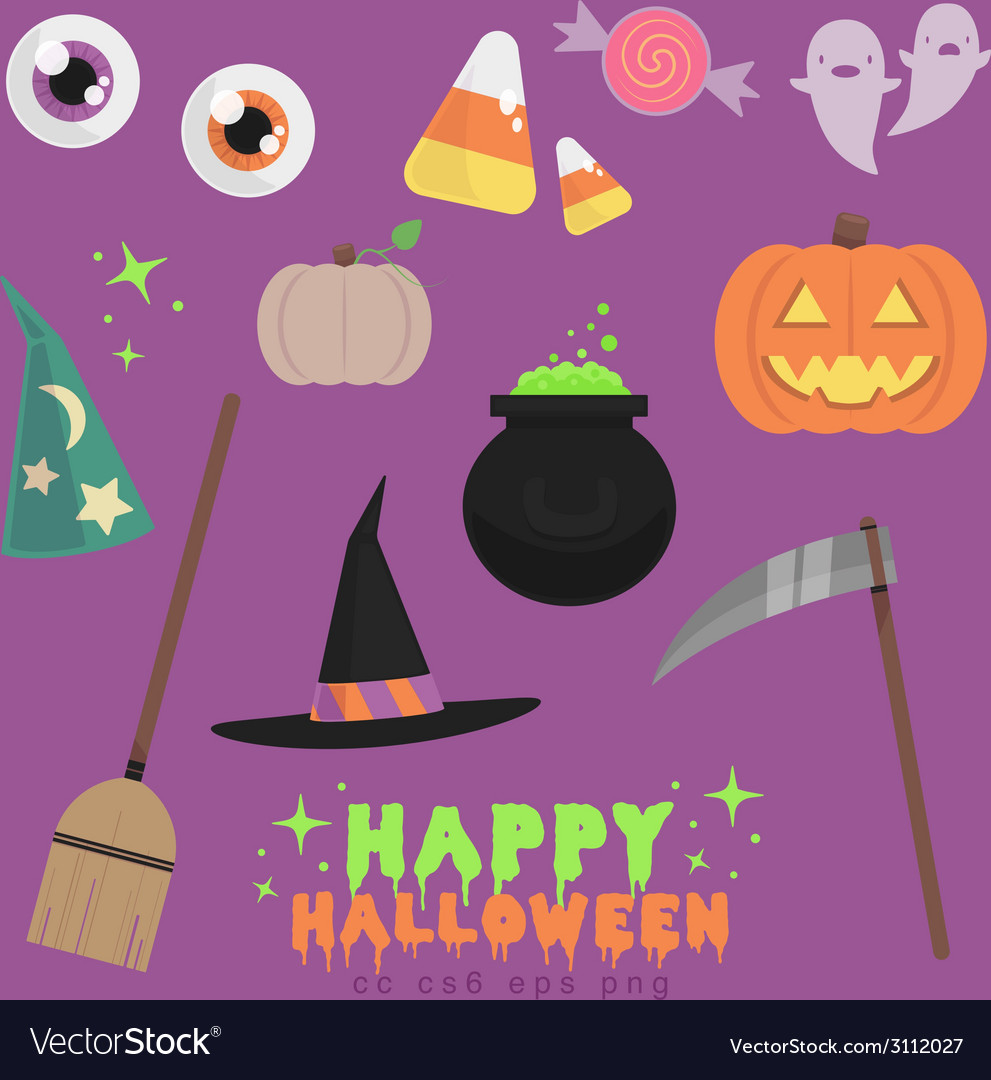 Flat halloween vector | Price: 1 Credit (USD $1)