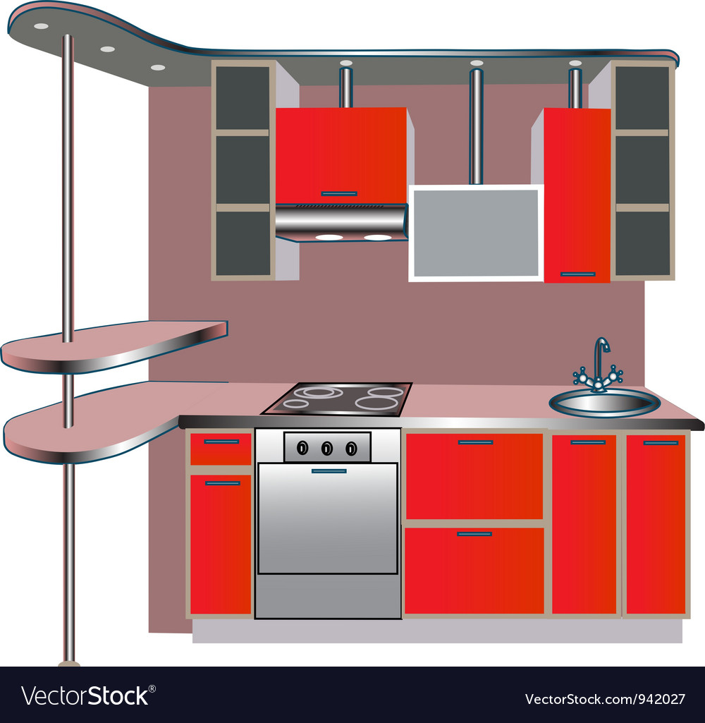 Kitchen unit vector | Price: 1 Credit (USD $1)