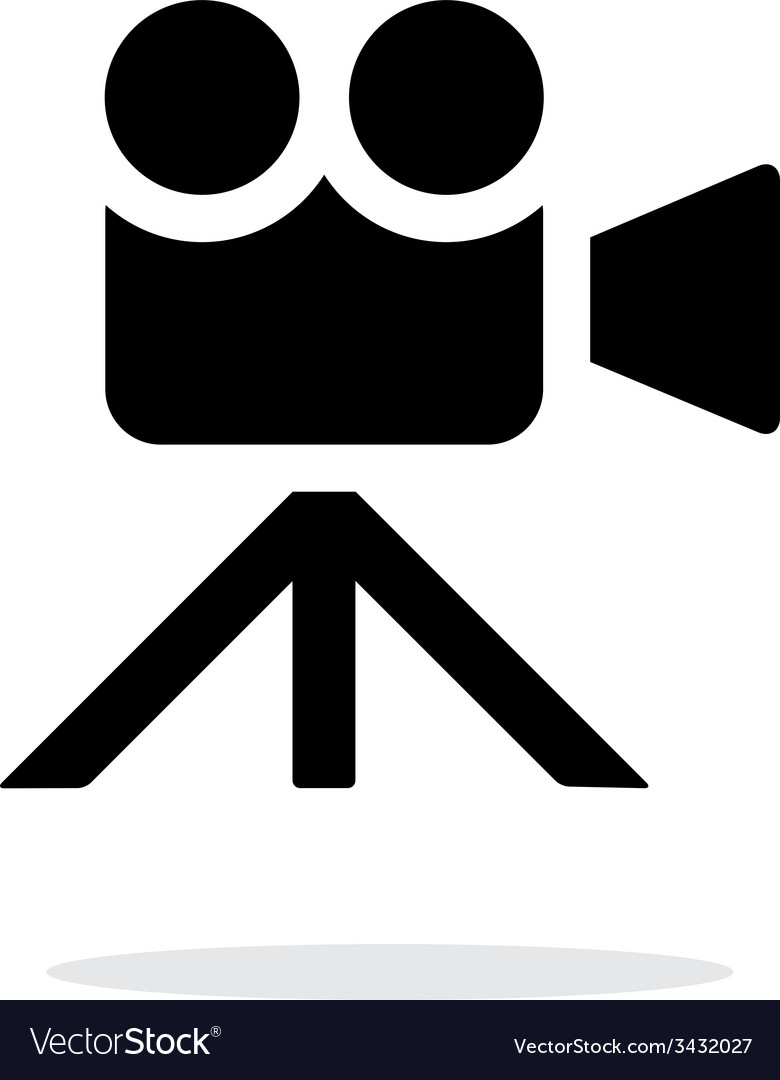Movie camera simple icon on white background vector | Price: 1 Credit (USD $1)