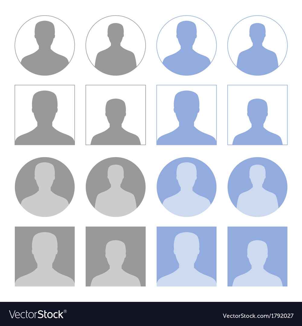 Profile icons vector | Price: 1 Credit (USD $1)