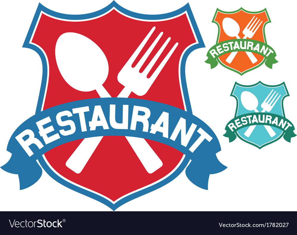 Restaurant label vector | Price: 1 Credit (USD $1)