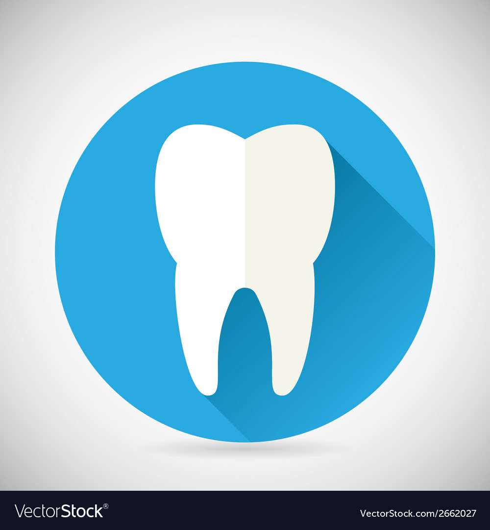 Stomatology and dental treatment symbol tooth icon vector | Price: 1 Credit (USD $1)