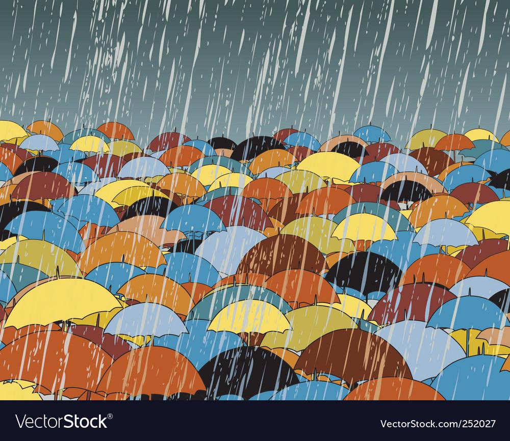 Umbrellas vector | Price: 1 Credit (USD $1)