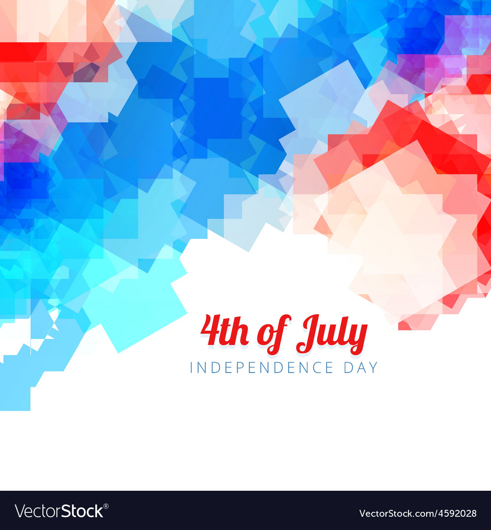 Abstract american independence day background vector | Price: 1 Credit (USD $1)