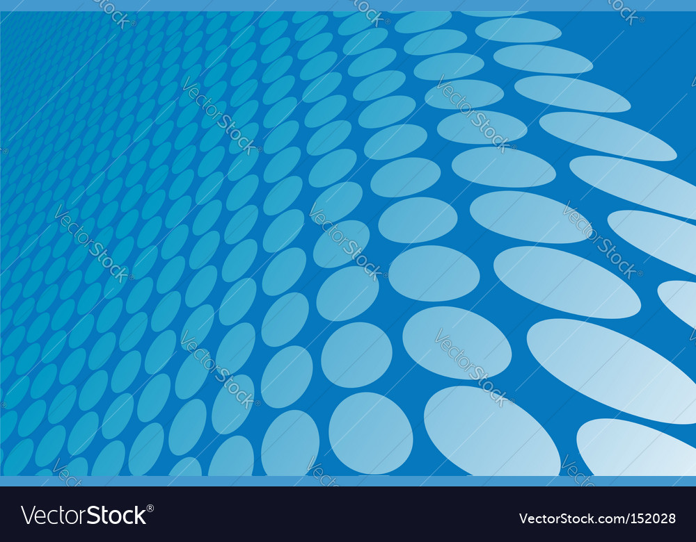 Abstract blue wavy circles background vector | Price: 1 Credit (USD $1)