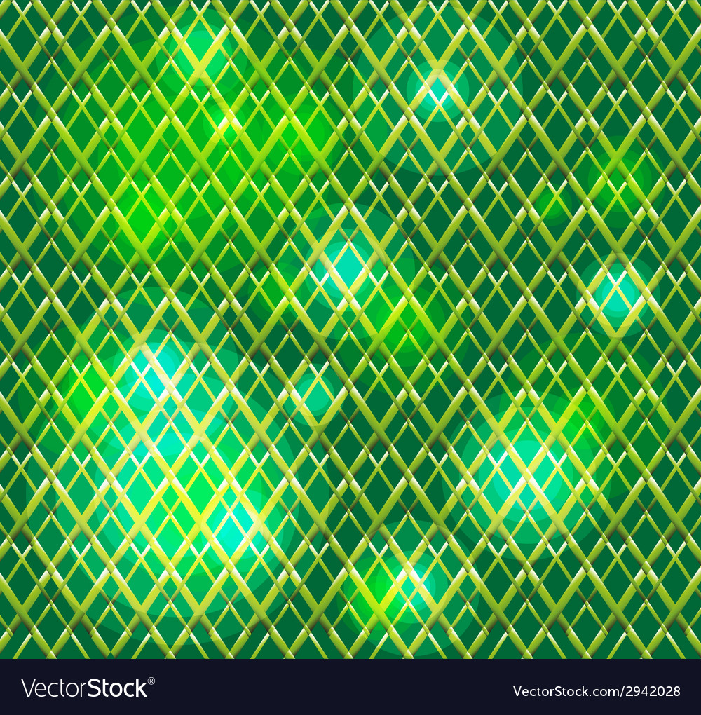 Abstract virtual green grid background with dots vector
