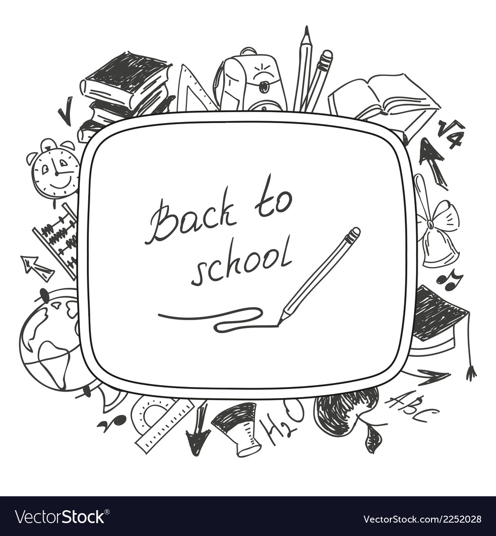 Back to school school background of school vector | Price: 1 Credit (USD $1)