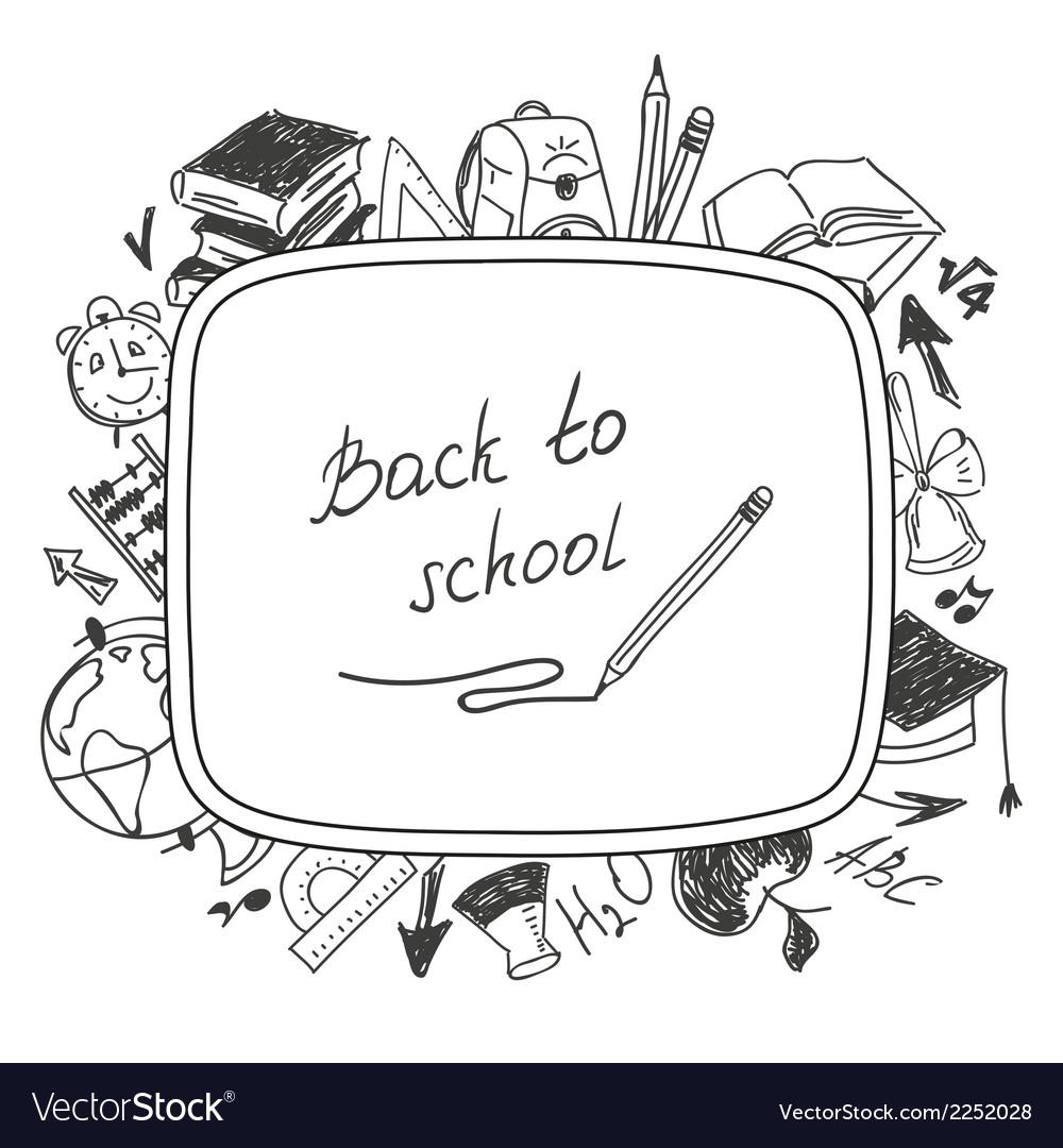 Back to school school background of school vector   Price: 1 Credit (USD $1)