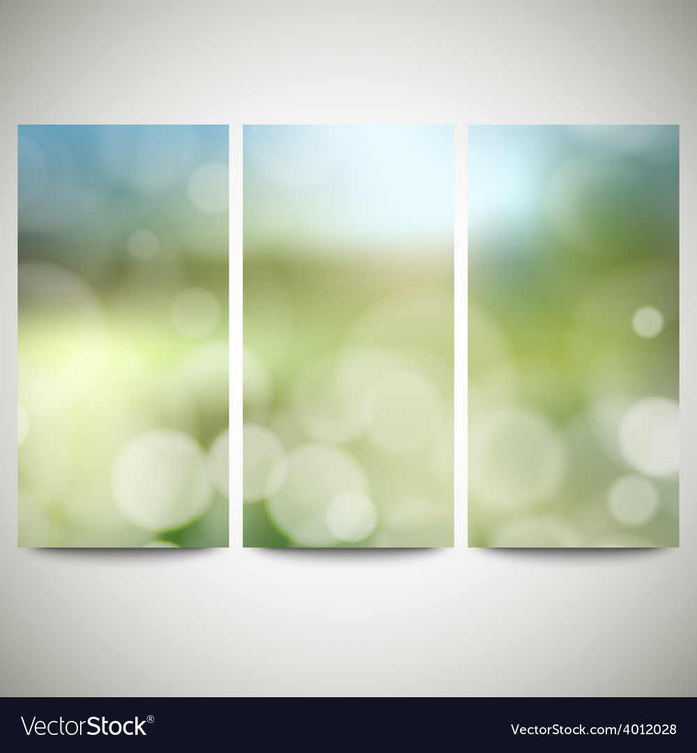 Blurry backgrounds set with bokeh effect abstract vector | Price: 1 Credit (USD $1)
