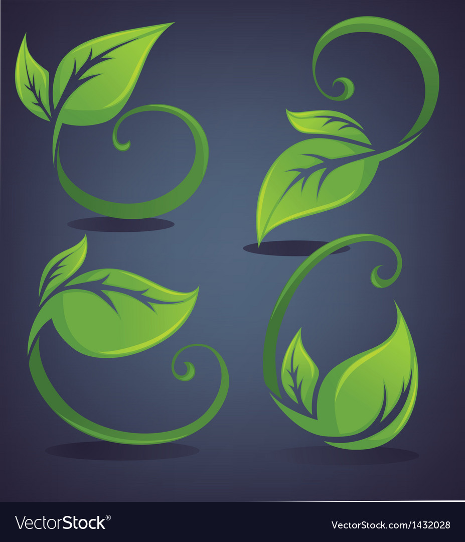 Bright and green leaves vector | Price: 1 Credit (USD $1)