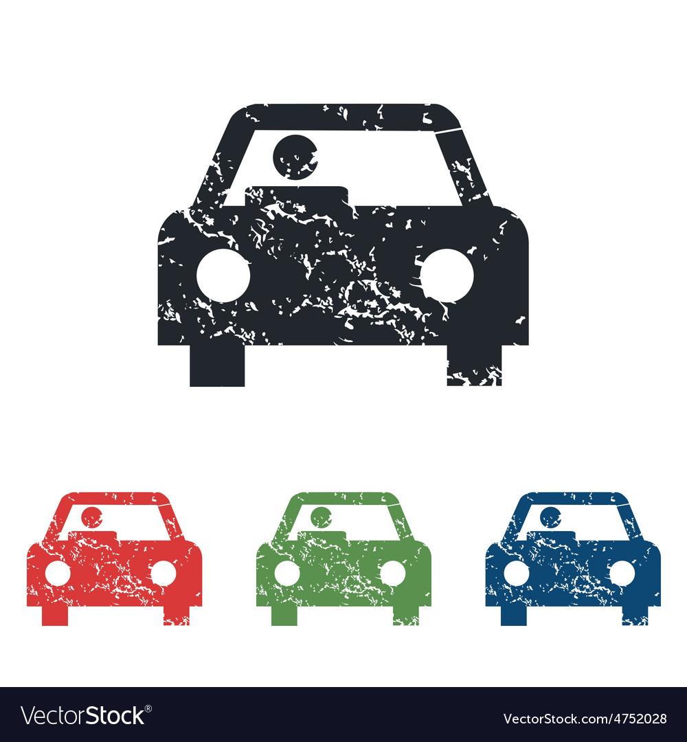 Car grunge icon set vector   Price: 1 Credit (USD $1)