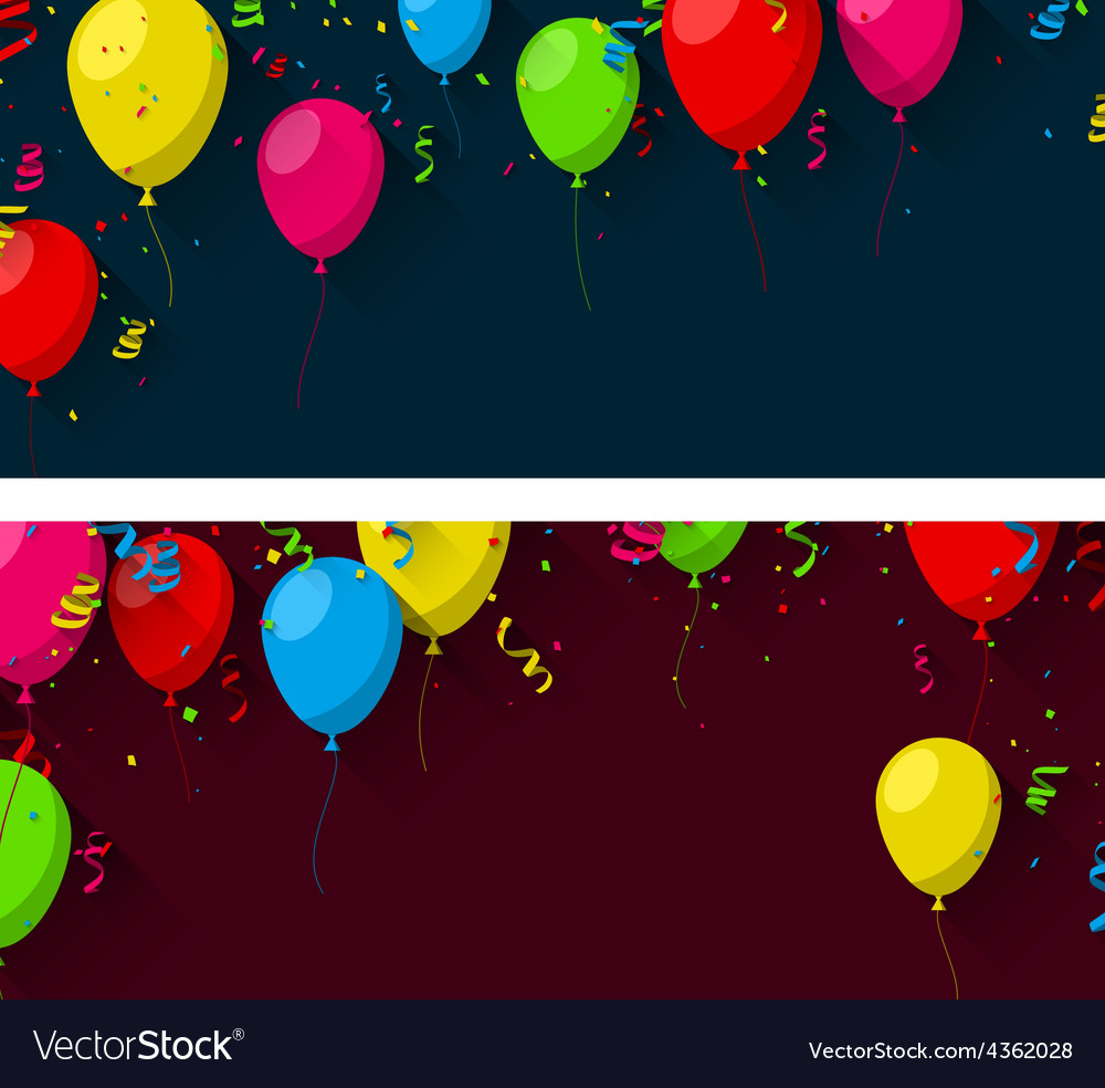 Celebrate background with flat balloons vector   Price: 1 Credit (USD $1)