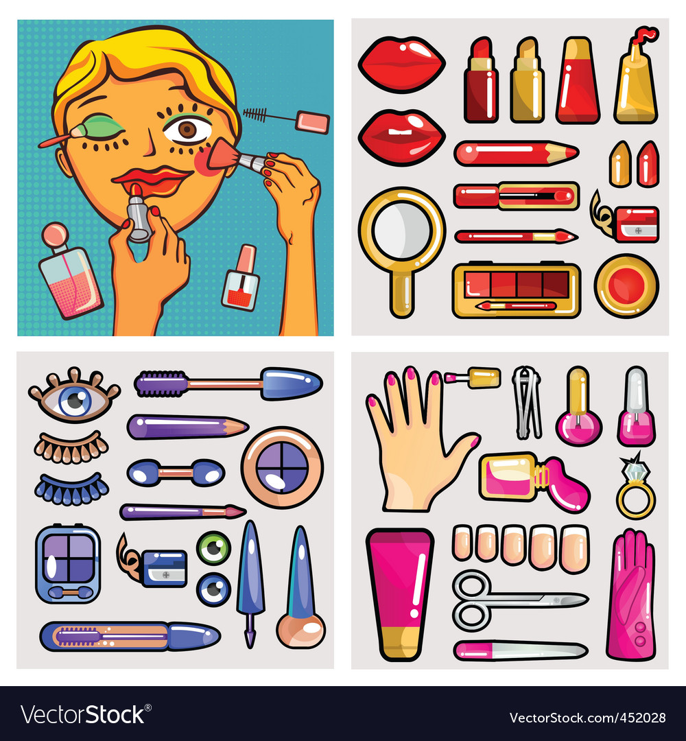 Cosmetic set vector | Price: 3 Credit (USD $3)